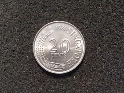 Szingapúr 20 cent 1980