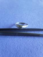 Art Deco ezüst gyűrű briliánssal!