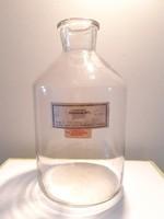 Régi nagy patikaüveg gyógyszertári palack laborüveg 27 cm
