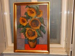 75 x 52 cm-es képhez minőségi keret, kitűnő állapotban, ajándék olaj-vászon festménnyel