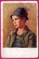 E - 0038 - - - Művészi képeslap gyermekábrázolással az 1920-as évekből
