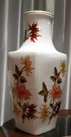Hollóházi 36,5 cm magas, őszirózsa mintás porcelán váza