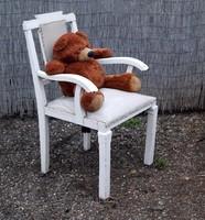 Vintage régi nagy fotel különleges formájú nagy karosszék