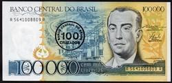 Brazília 100.000 cruzeiros UNC 1986