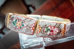 Szörnyen öreg Ó Herendi porcelán karkötő Cubach mintával