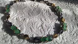 Smaragd 925 ezüst karkötő