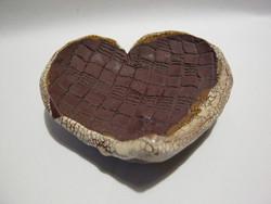 Retro kerámia szív alakú gyertyatartó mécsestartó