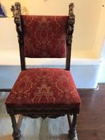 4 faragott szék+asztal+ puff