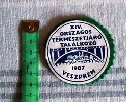 Emlék kitűző 1987 Veszprém