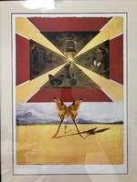 """Salvador Dali (1904-1989)Litográfia """"Suite Papillon""""1969-es kiadás(Pillangó lakosztály) bélyegző!"""
