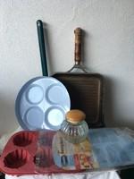 Zománc tojássütő konyhai csomag
