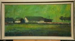 Gádor Emil (1911-1998) : Zöld táj (Tehenek)