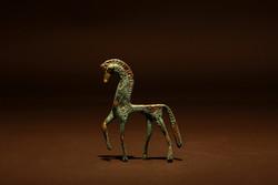 Görög ló szobor (bronz)