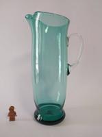 Türkiz fújt üvegkancsó