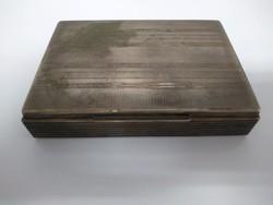 Régi Art deco, ezüstözött kártya doboz