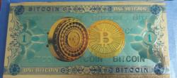 Plastic bitcoin fantázia bankjegy