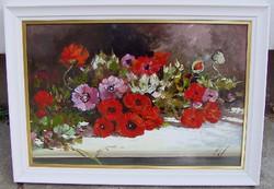FÉLÁRON Adilov Kabul Csokor az asztalon 40x60cm + keret