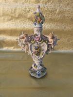 Antik Meisseni jellegű barokk stílusú váza 19 sz.