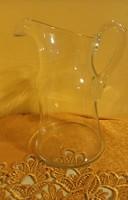 Szép formás üveg kancsó