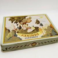 Bonbon desszert Régi retro csokoládés papír doboz 70-es évek Szerencs Keringő