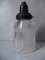 Antik, ólomkristály lámpa