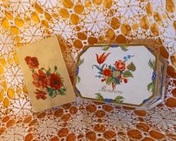 Pipacsos és százszorszépes Budapesti keksz -és ostyagyáros dobozkák