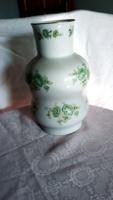 Zsolnay   váza  zöld rózsás  31  cm