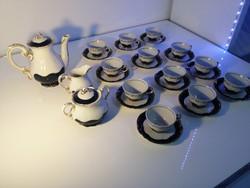 Zsolnay Ponpadur porcelán kávés készlet  12 personen