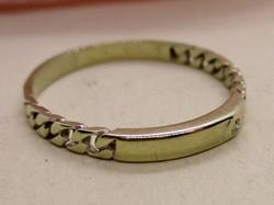 Csodálatos  arany karika gyűrű pici brillel 62-es méret