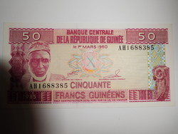 Guinea 50 francs 1985  UNC Nagyon Ritka!