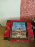 Festmény Boján szignózott és liállításon részt vett kép