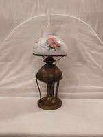 Antik petróleum lámpa 50 cm!A burája sérült!
