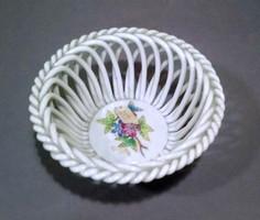Herendi kosár / Herend porcelain braided basket