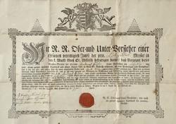 Szegedi készítésű céhlevél - 1822