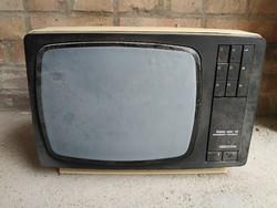 Videoton Super Star 12 fekete-fehér televízió készülék retro tv