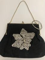 Antik, kézzel varrt alkalmi táska Swarovski kristályokkal