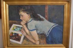BALOGH ANDRÁS (Budapest 1919 -1992 Budapest) Az olvasó lány