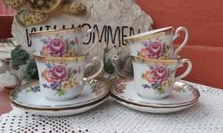 Winterling Bavaria német Gyönyörű virágos teáscsésze szett , csésze szettek porcelán, Gyűjtői darab