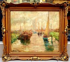 Zórád Géza (1880-1960) : Hajók