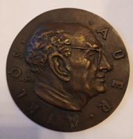 Csúcs Ferenc  /1905-1999/ 1963. szabadkőműves bronz emlékérem