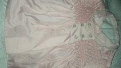 Babaruha, rózsaszín kabát 70-80 cm magas babára
