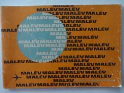MALÉV prospektus a 70-es, 80-as évekből, tájékoztatás az útvonal-hálózatról