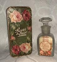 Antik Roses & Nice parfümös üveg saját eredeti dobozában