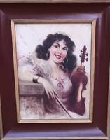 Ismeretlen festő – Cigánylány hegedűvel című festménye – 30.