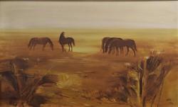 DÉR ISTVÁN Legelésző lovak