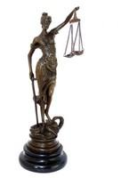 Justitia szobor 24cm