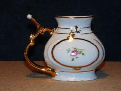 Cseh rózsás porcelán kúrapohár