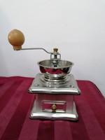 Design fém kávé daráló ezüst színű