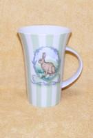 Nagyméretű nyuszis porcelán bögre