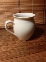Fehér porcelán Zsolnay csupor, köcsög, bögre